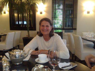 Sandy in restaurant